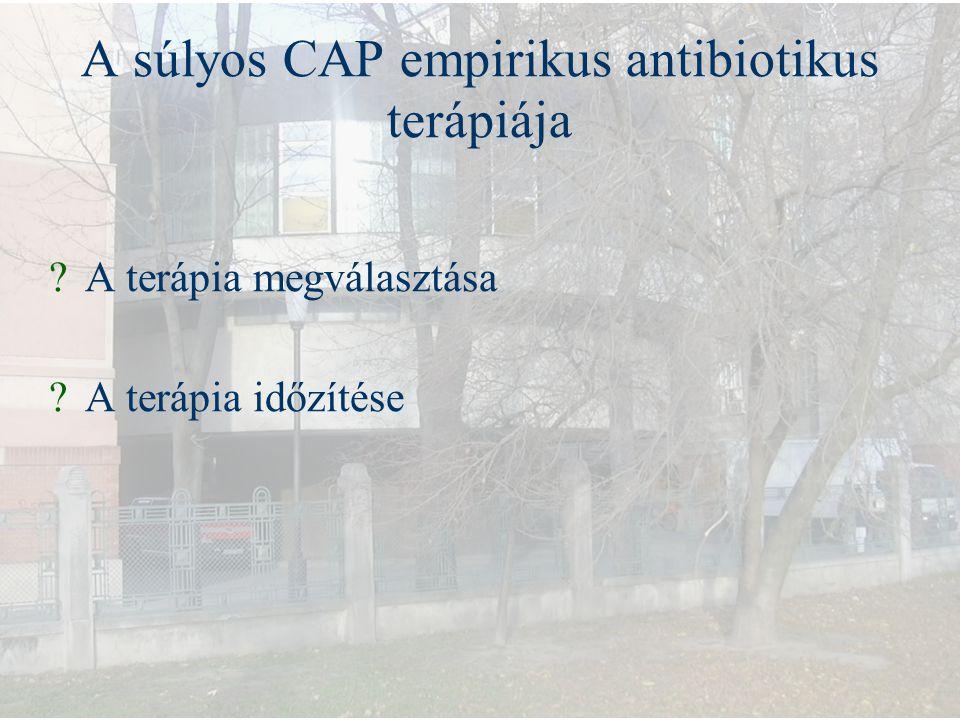 A súlyos CAP empirikus antibiotikus terápiája