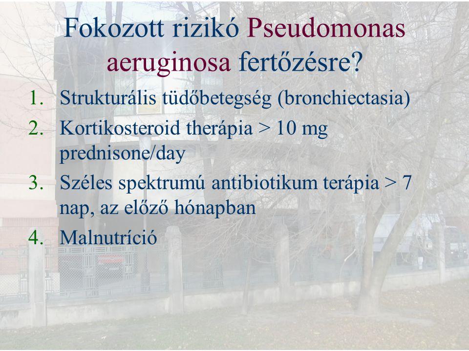 Fokozott rizikó Pseudomonas aeruginosa fertőzésre