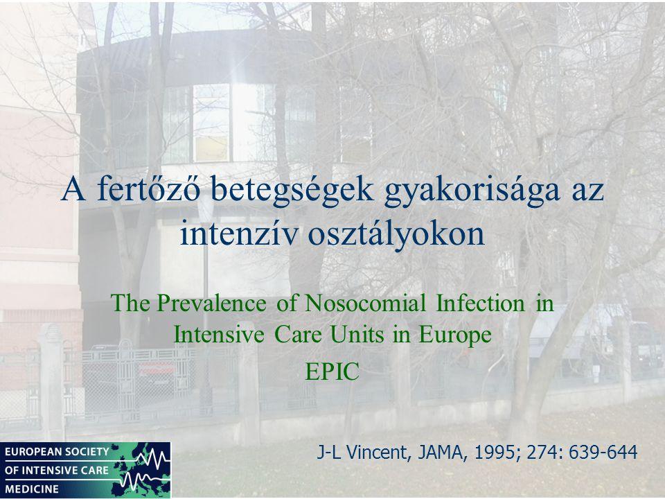 A fertőző betegségek gyakorisága az intenzív osztályokon