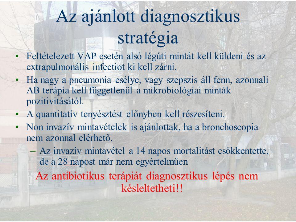 Az ajánlott diagnosztikus stratégia