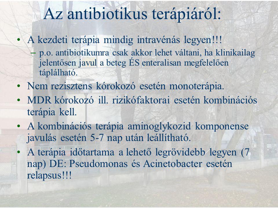 Az antibiotikus terápiáról: