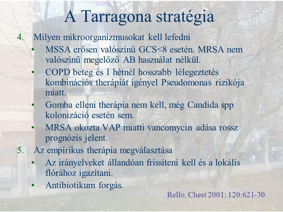 A Tarragona stratégia Milyen mikroorganizmusokat kell lefedni