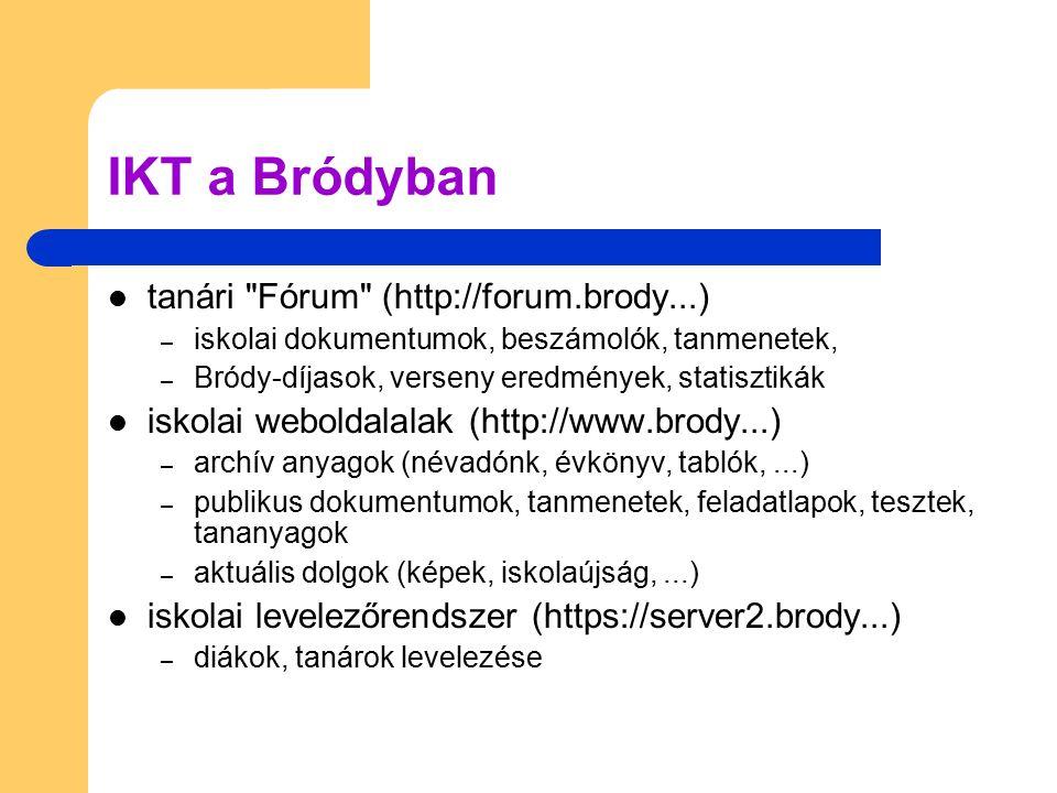 IKT a Bródyban tanári Fórum (http://forum.brody...)