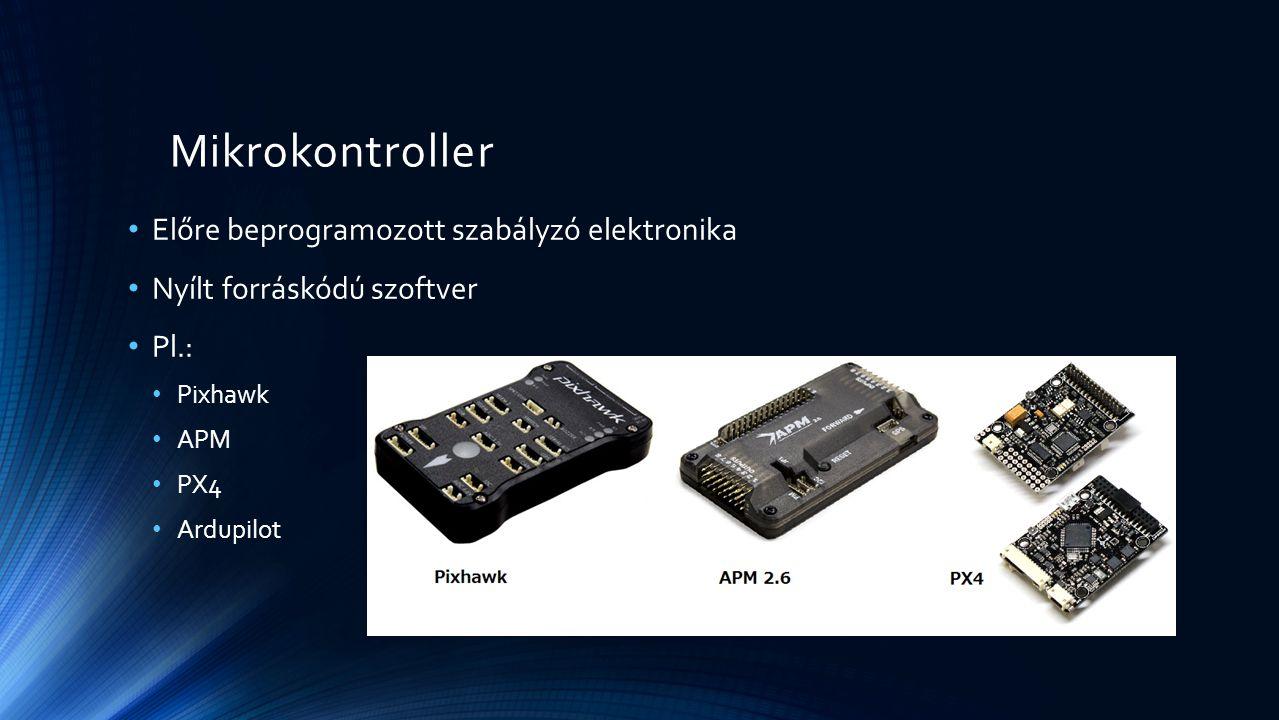 Mikrokontroller Előre beprogramozott szabályzó elektronika