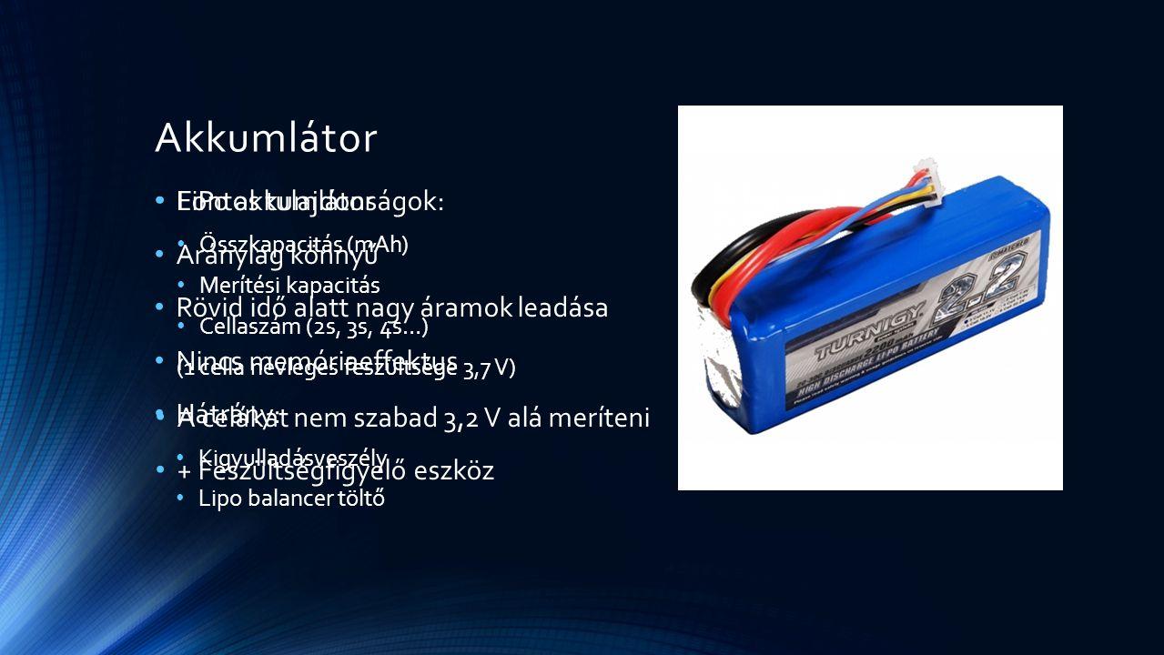 Akkumlátor LiPo akkumlátor Aránylag könnyű
