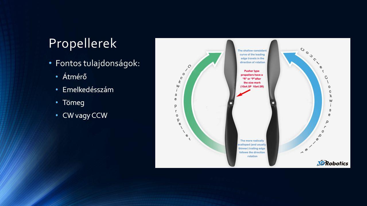 Propellerek Fontos tulajdonságok: Átmérő Emelkedésszám Tömeg
