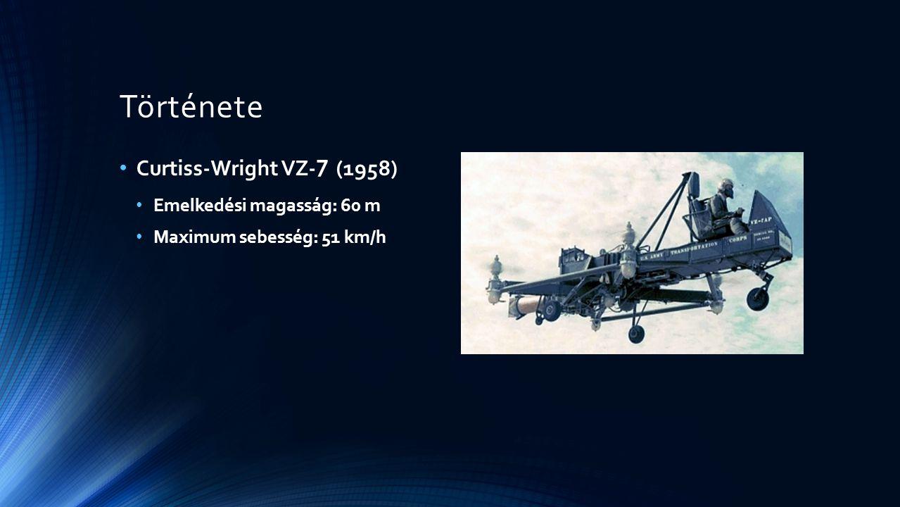 Története Curtiss-Wright VZ-7 (1958) Emelkedési magasság: 60 m