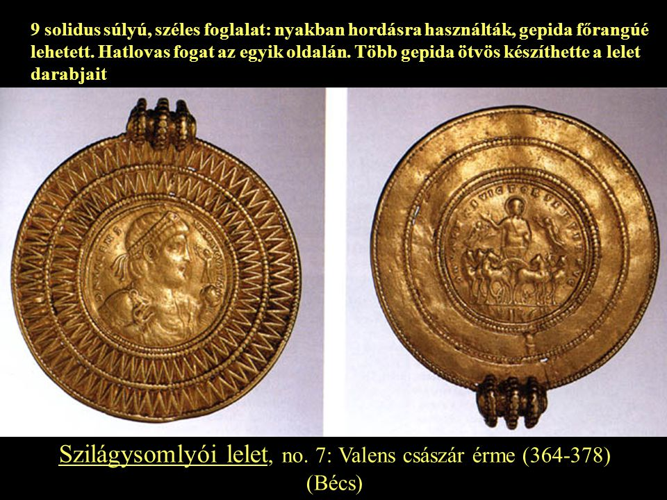 Szilágysomlyói lelet, no. 7: Valens császár érme (364-378)