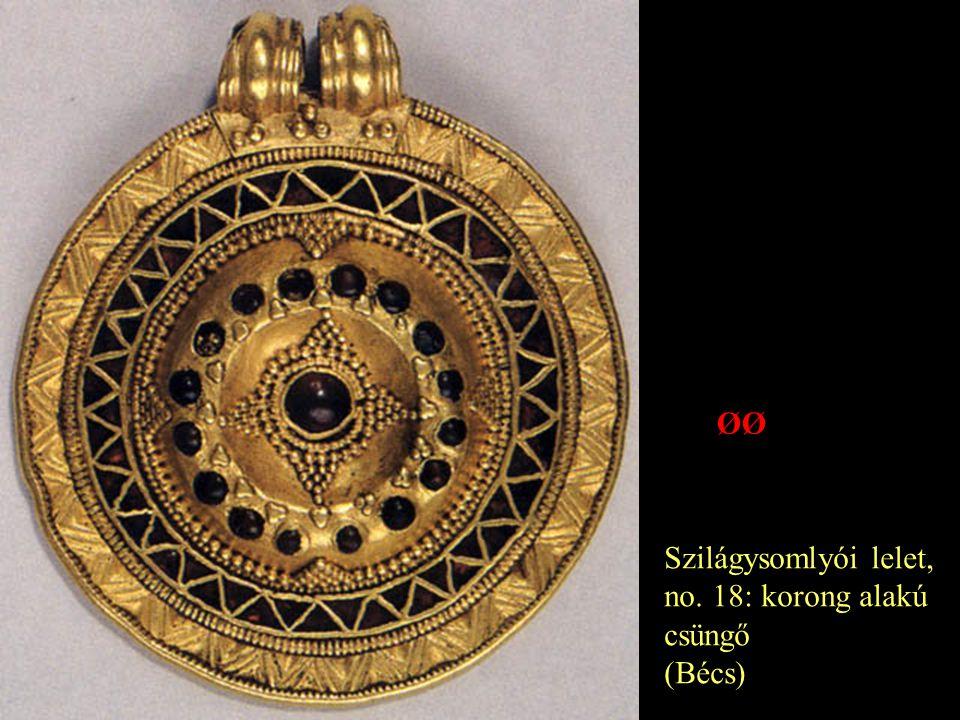 ØØ Szilágysomlyói lelet, no. 18: korong alakú csüngő (Bécs)