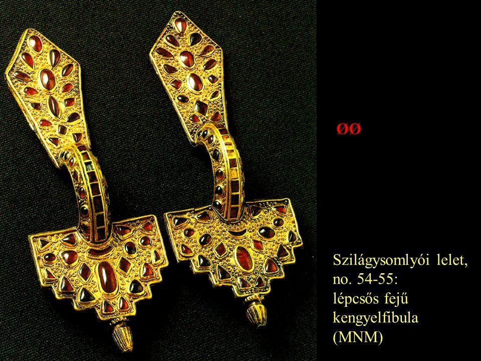 ØØ Szilágysomlyói lelet, no. 54-55: lépcsős fejű kengyelfibula (MNM)
