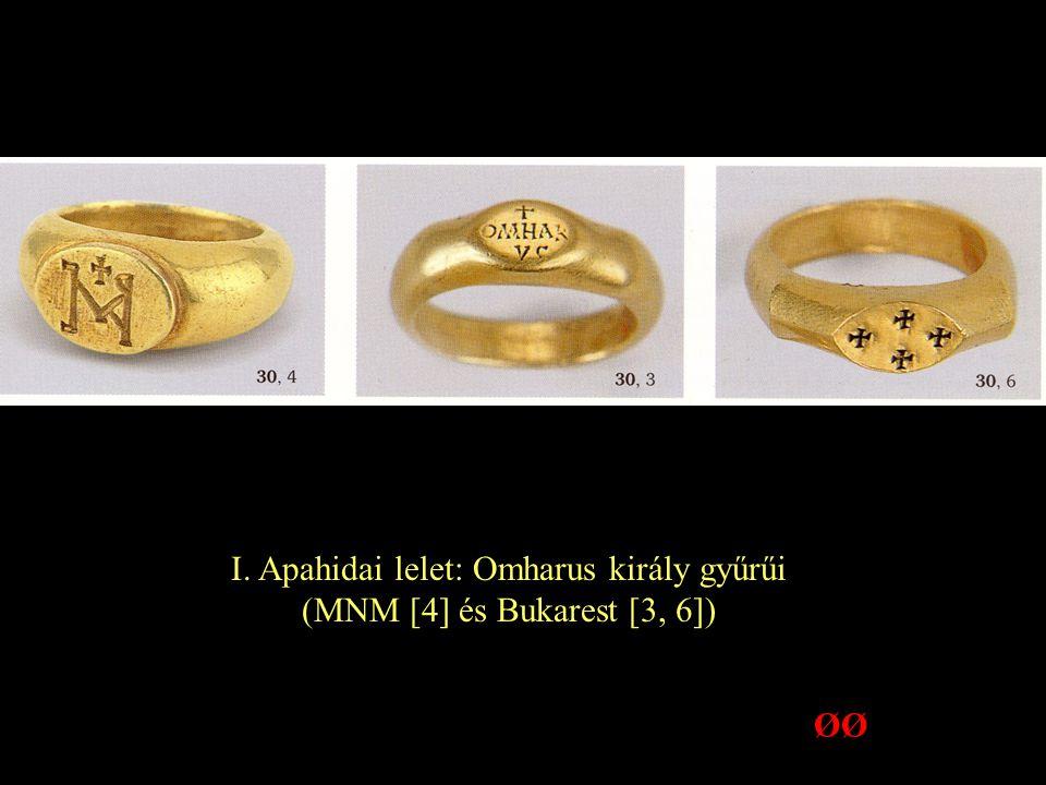 I. Apahidai lelet: Omharus király gyűrűi