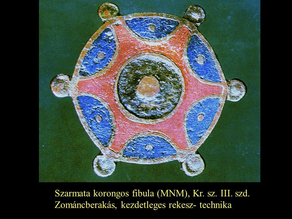 Szarmata korongos fibula (MNM), Kr. sz. III. szd.