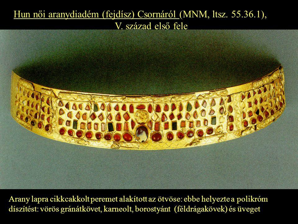 Hun női aranydiadém (fejdísz) Csornáról (MNM, ltsz. 55.36.1),