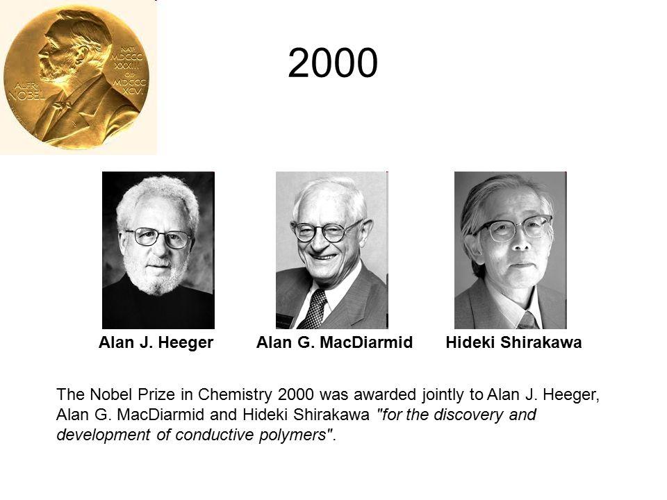 2000 Alan J. Heeger Alan G. MacDiarmid Hideki Shirakawa