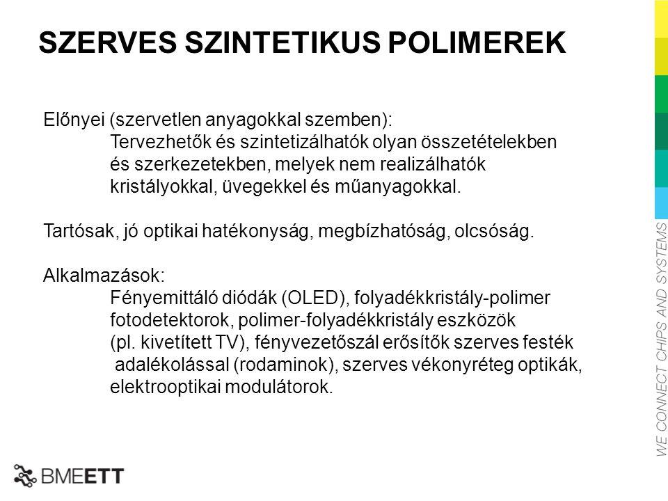 SZERVES SZINTETIKUS POLIMEREK