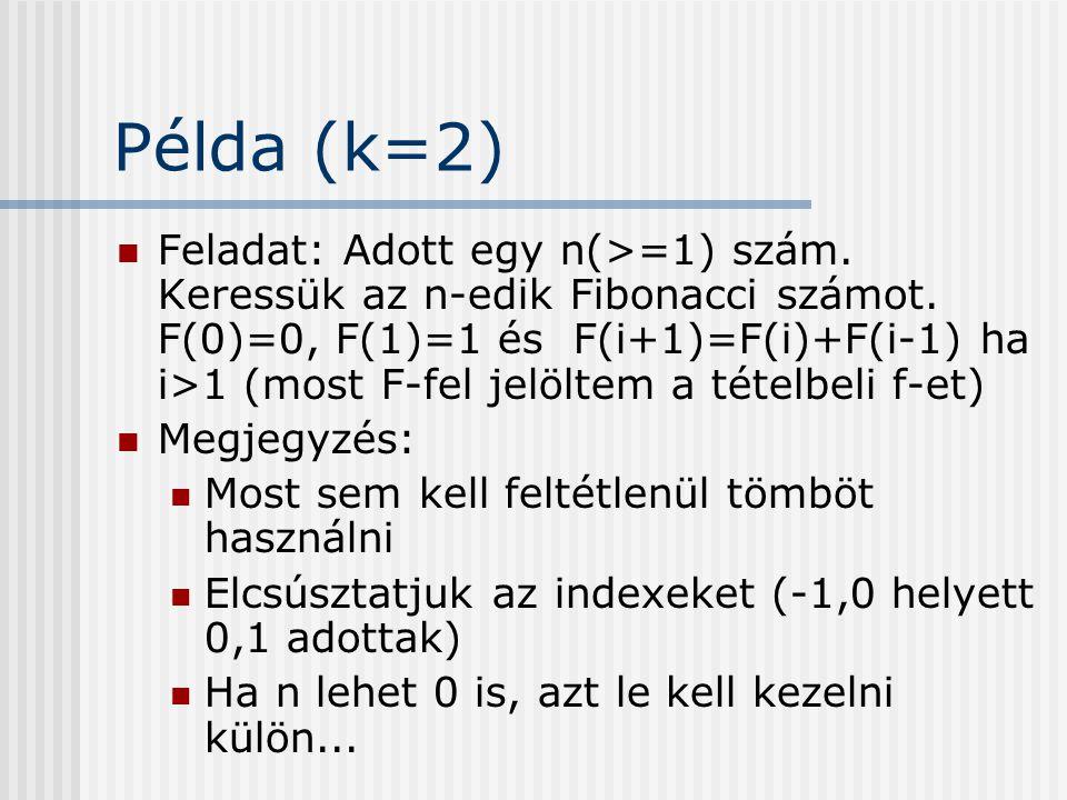 Példa (k=2)