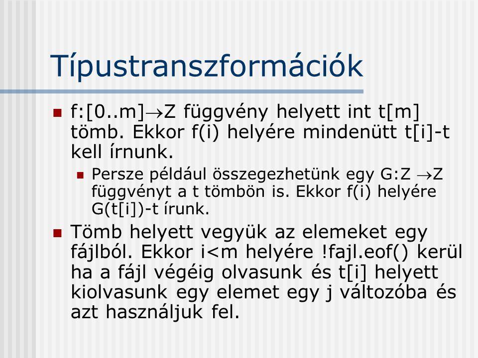 Típustranszformációk