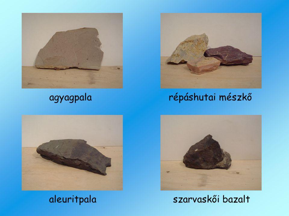 agyagpala répáshutai mészkő aleuritpala szarvaskői bazalt