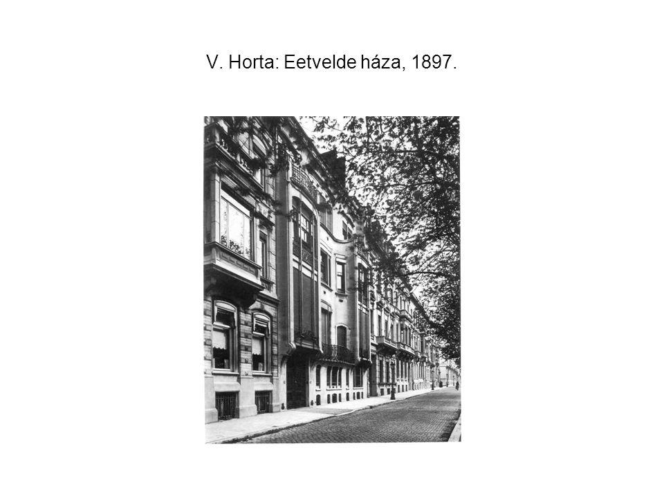 V. Horta: Eetvelde háza, 1897.