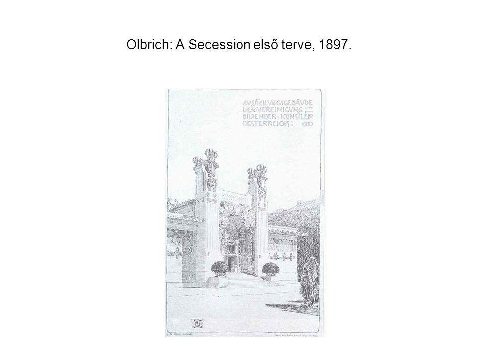Olbrich: A Secession első terve, 1897.