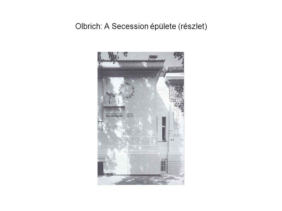 Olbrich: A Secession épülete (részlet)