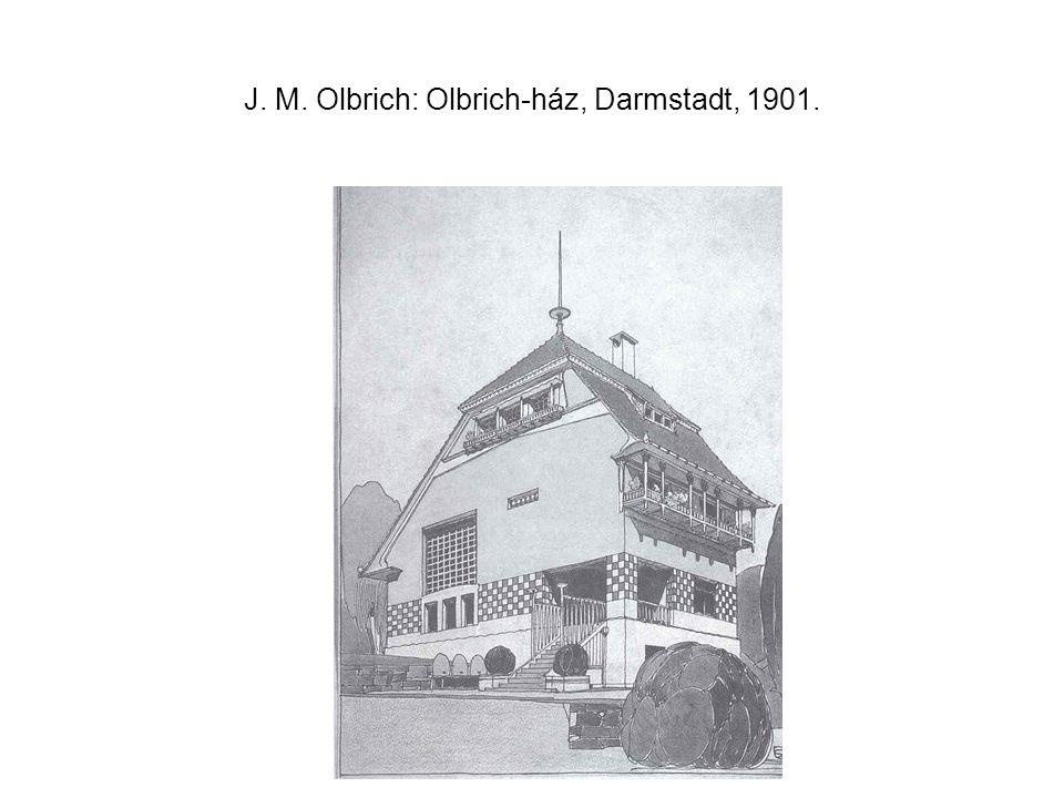 J. M. Olbrich: Olbrich-ház, Darmstadt, 1901.