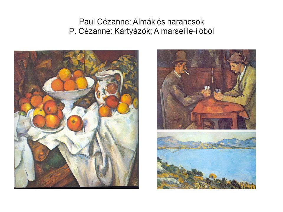Paul Cézanne: Almák és narancsok P