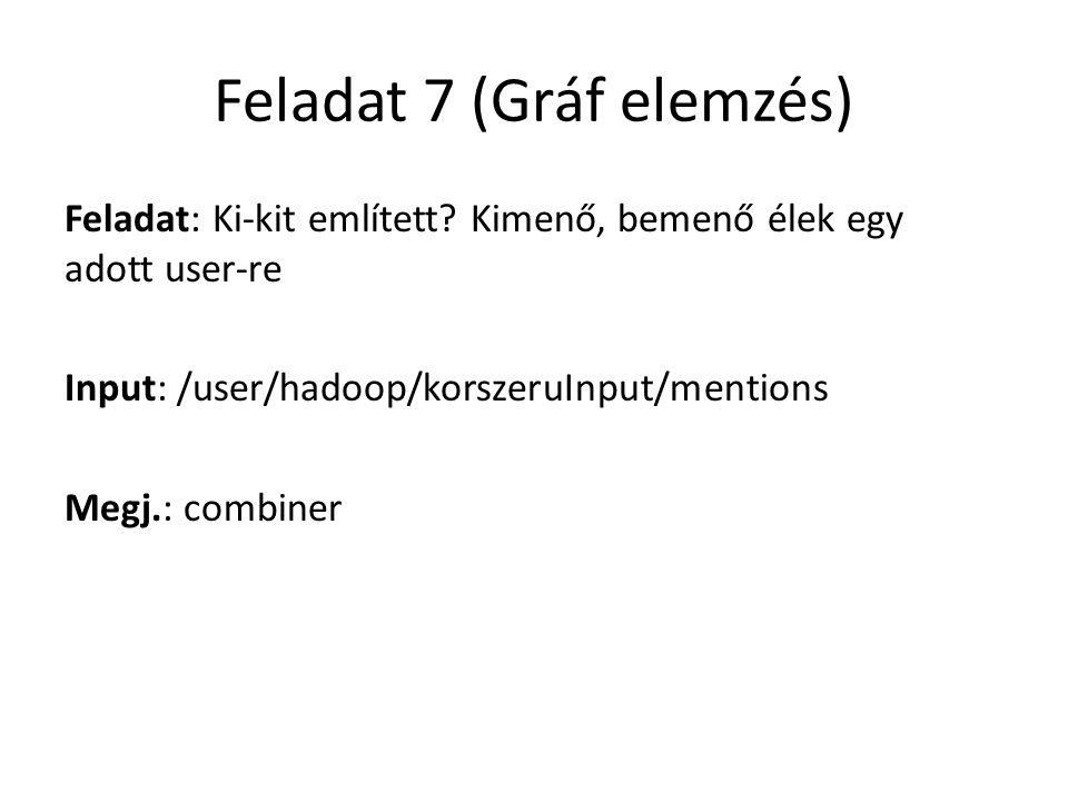 Feladat 7 (Gráf elemzés)