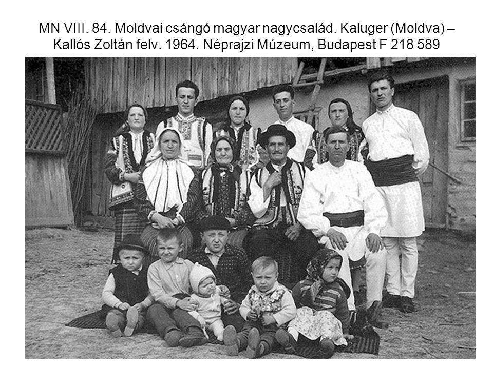 MN VIII. 84. Moldvai csángó magyar nagycsalád
