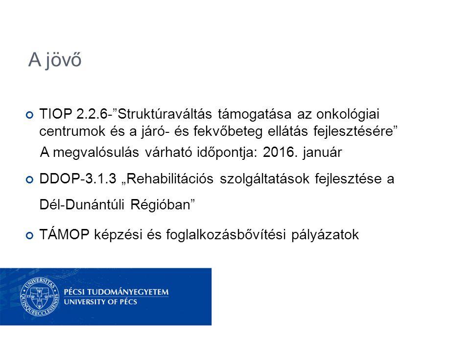 A jövő TIOP 2.2.6- Struktúraváltás támogatása az onkológiai centrumok és a járó- és fekvőbeteg ellátás fejlesztésére