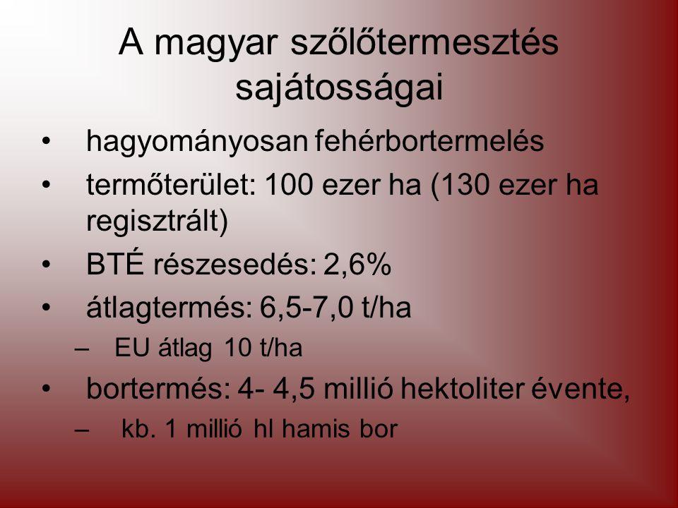 A magyar szőlőtermesztés sajátosságai