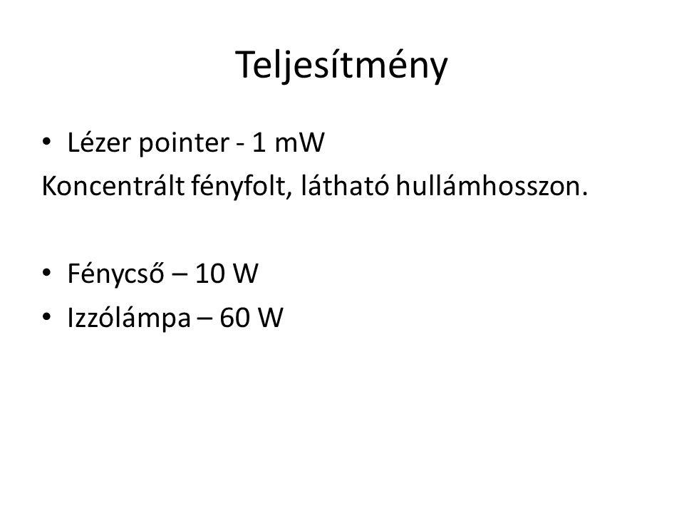 Teljesítmény Lézer pointer - 1 mW