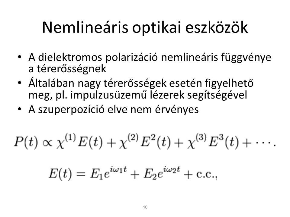 Nemlineáris optikai eszközök