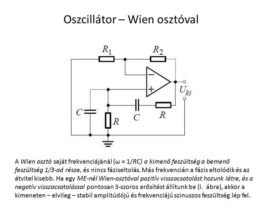 Oszcillátor – Wien osztóval