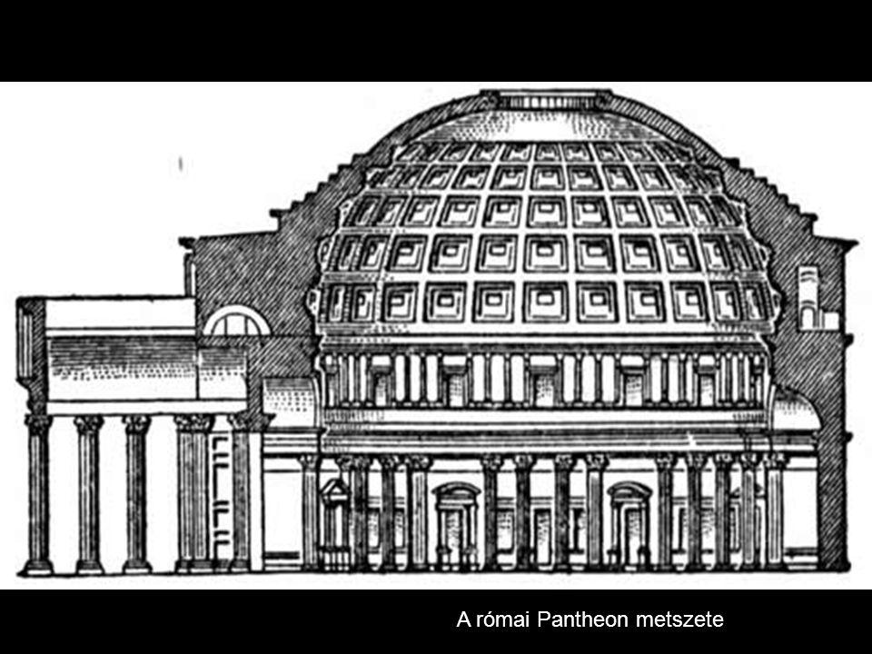 A római Pantheon metszete