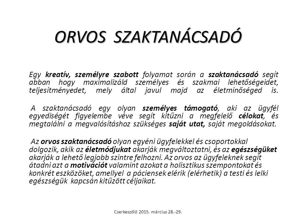 ORVOS SZAKTANÁCSADÓ