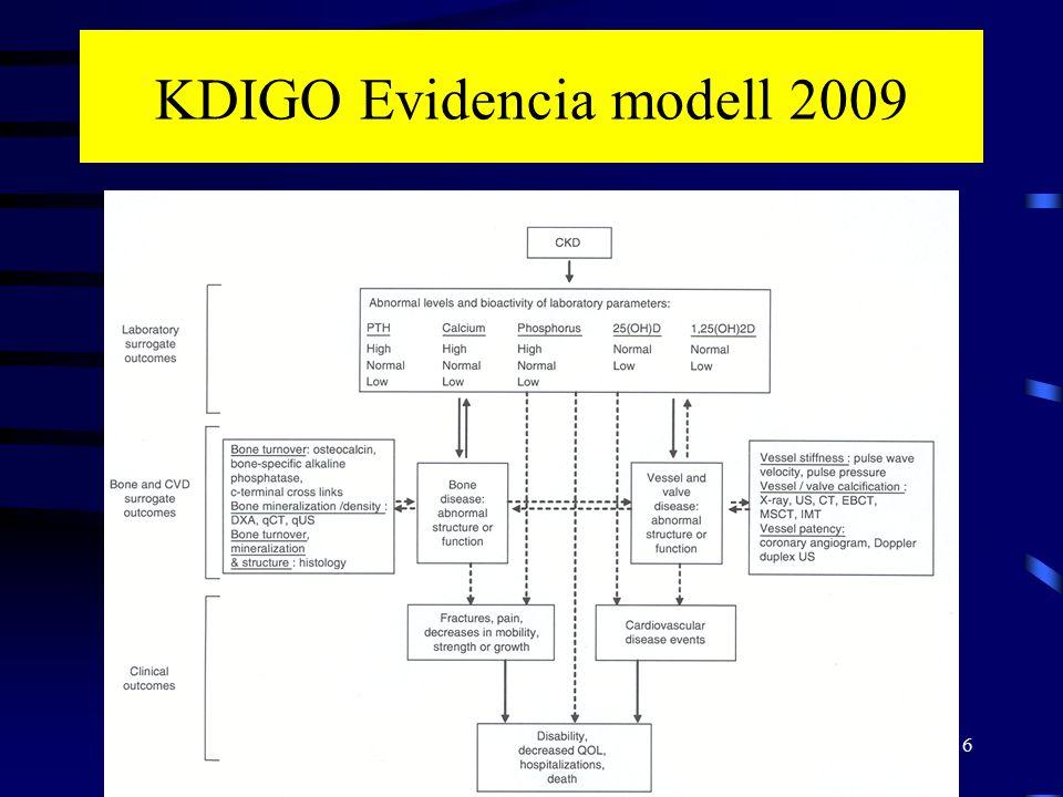 KDIGO Evidencia modell 2009