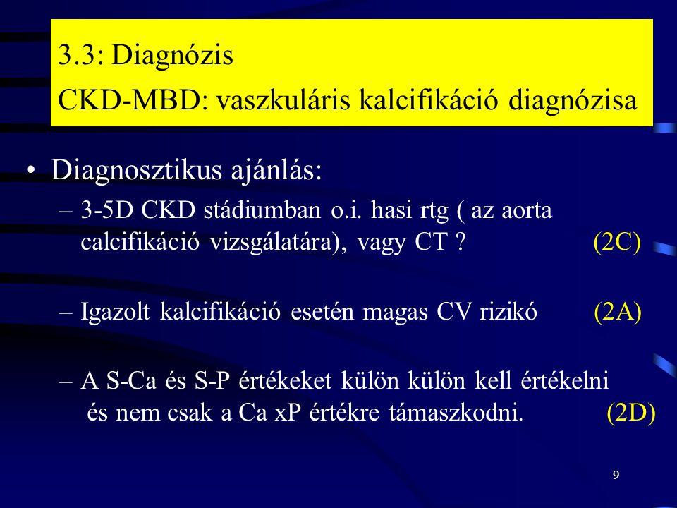 3.3: Diagnózis CKD-MBD: vaszkuláris kalcifikáció diagnózisa