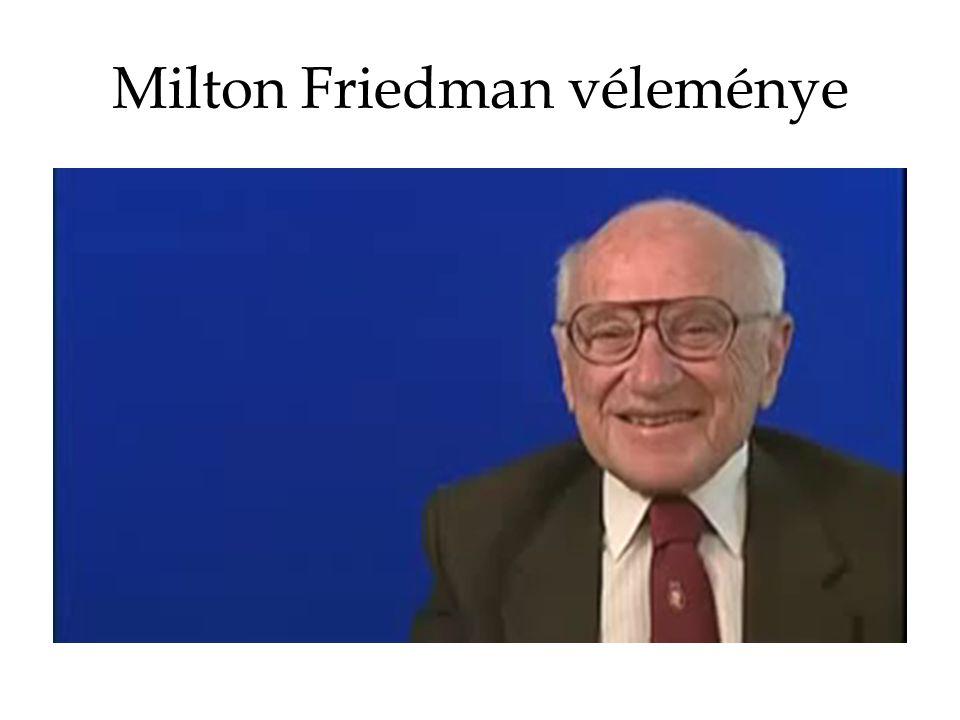 Milton Friedman véleménye