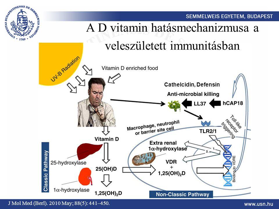 A D vitamin hatásmechanizmusa a veleszületett immunitásban