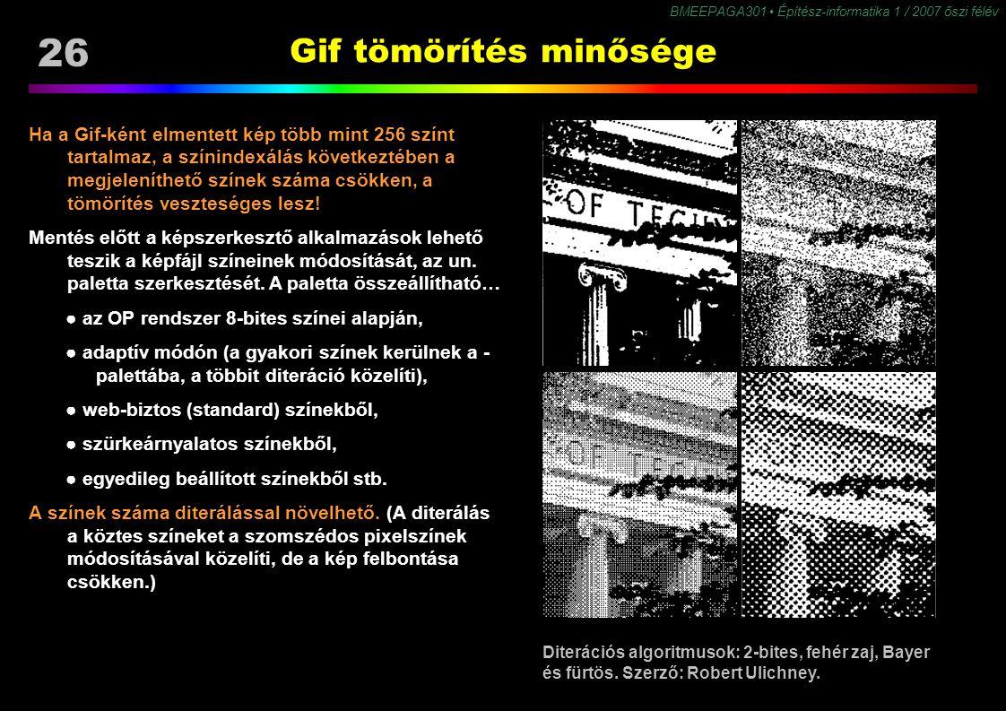 Gif tömörítés minősége