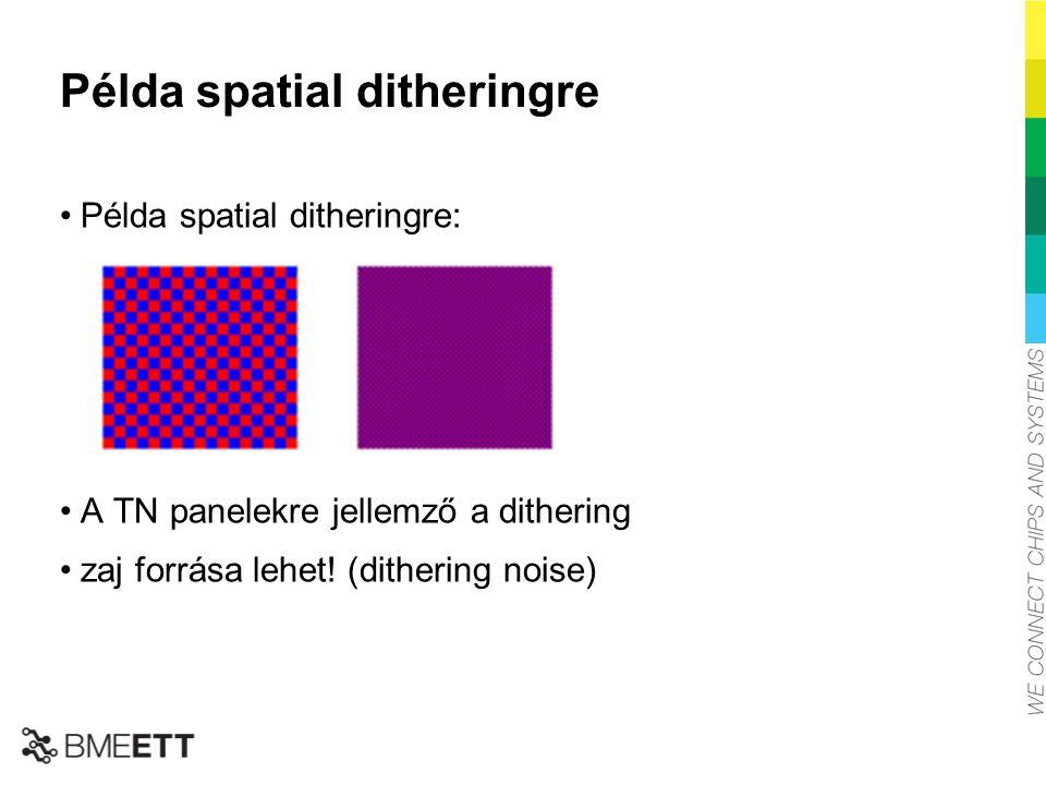 Példa spatial ditheringre
