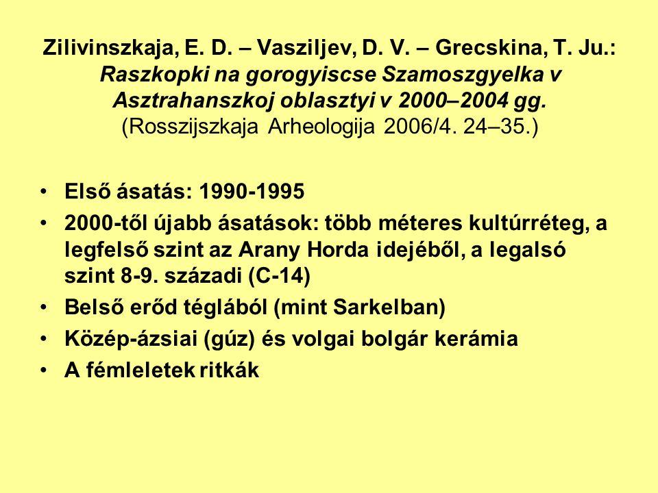 Zilivinszkaja, E. D. – Vasziljev, D. V. – Grecskina, T. Ju