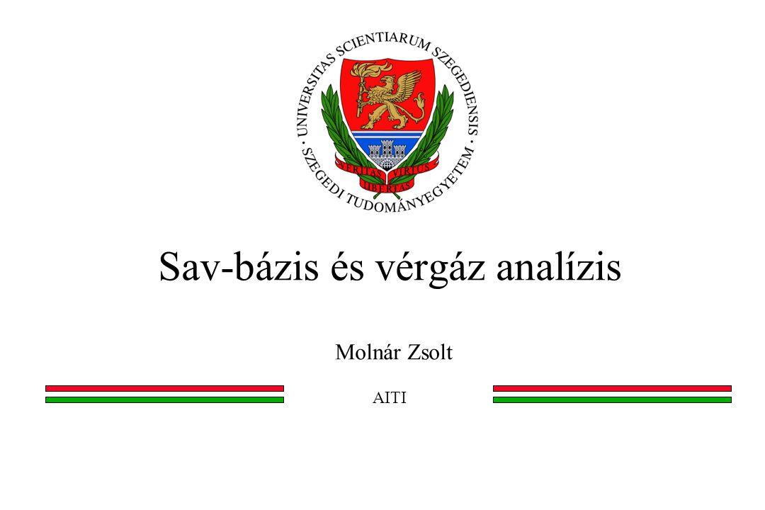 Sav-bázis és vérgáz analízis Molnár Zsolt AITI