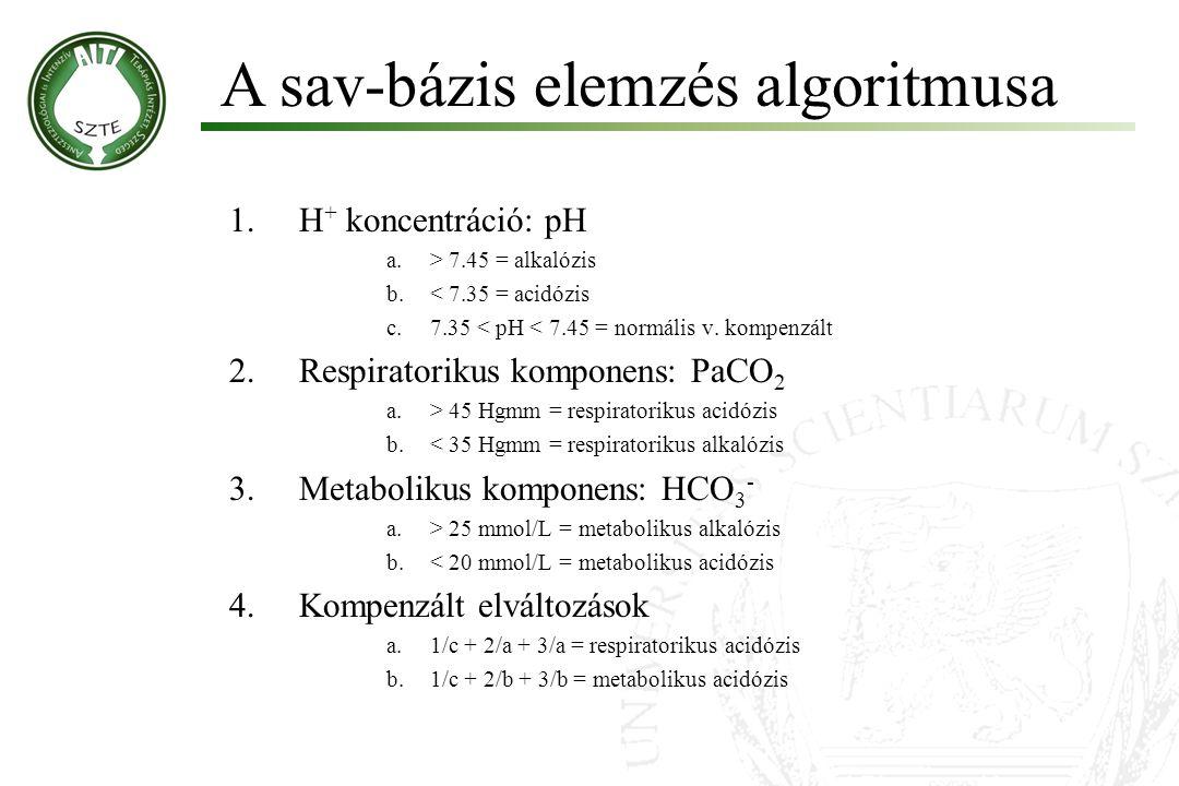 A sav-bázis elemzés algoritmusa