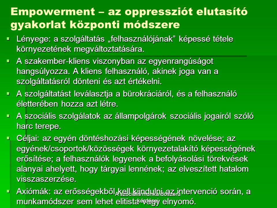 Empowerment – az oppressziót elutasító gyakorlat központi módszere