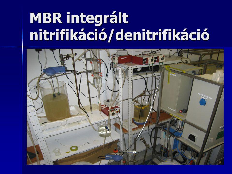 MBR integrált nitrifikáció/denitrifikáció