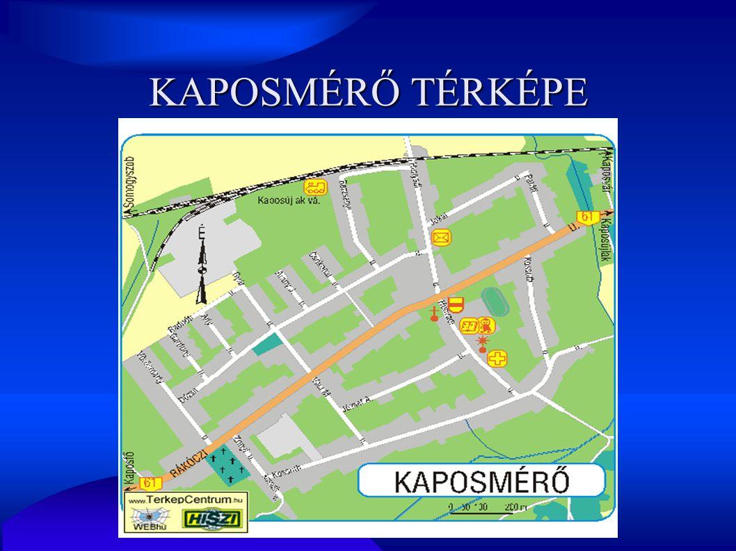 KAPOSMÉRŐ TÉRKÉPE