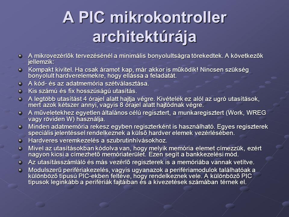A PIC mikrokontroller architektúrája