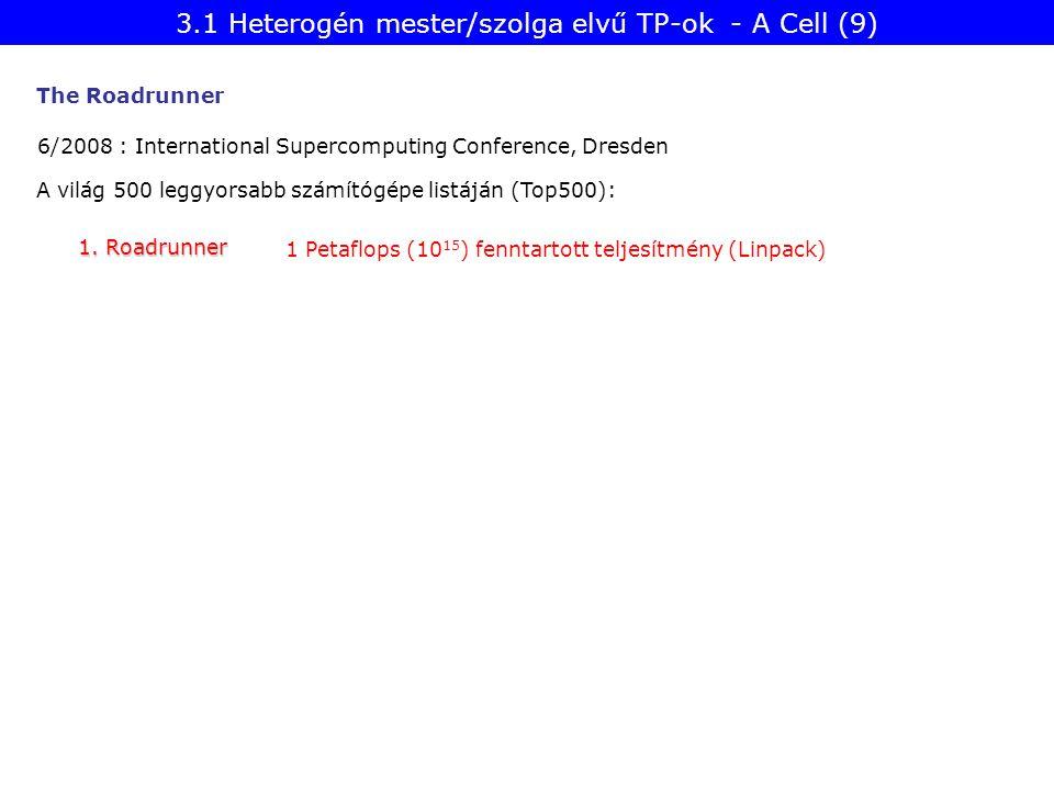 3.1 Heterogén mester/szolga elvű TP-ok - A Cell (9)